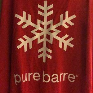 NWT pure barre snowflake tank